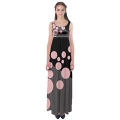 Pink Dots Empire Waist Maxi Dress