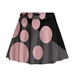 Pink dots Mini Flare Skirt