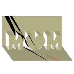Elegant lines MOM 3D Greeting Card (8x4)