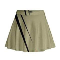 Elegant lines Mini Flare Skirt