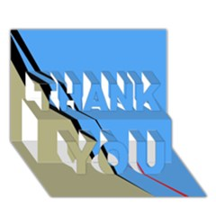 Elegant lines THANK YOU 3D Greeting Card (7x5)