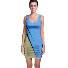 Elegant lines Sleeveless Bodycon Dress