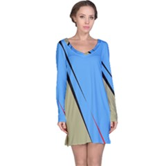 Elegant lines Long Sleeve Nightdress