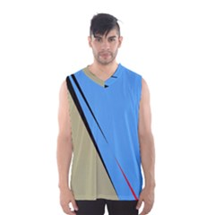Elegant Lines Men s Basketball Tank Top