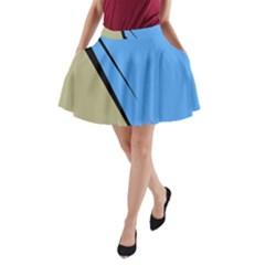 Elegant lines A-Line Pocket Skirt