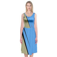 Elegant lines Midi Sleeveless Dress