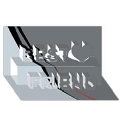 Elegant gray Best Friends 3D Greeting Card (8x4)