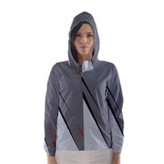 Elegant gray Hooded Wind Breaker (Women)