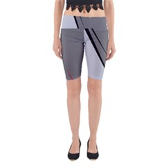 Elegant gray Yoga Cropped Leggings