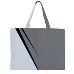 Elegant gray Zipper Large Tote Bag