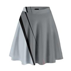 Elegant Gray High Waist Skirt