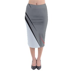 Elegant gray Midi Pencil Skirt