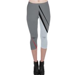 Elegant gray Capri Leggings