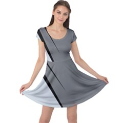 Elegant gray Cap Sleeve Dresses