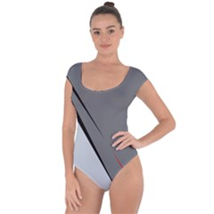Elegant gray Short Sleeve Leotard