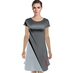 Elegant gray Cap Sleeve Nightdress