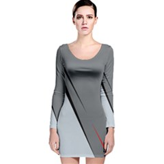 Elegant gray Long Sleeve Velvet Bodycon Dress