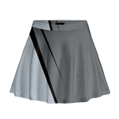 Elegant gray Mini Flare Skirt