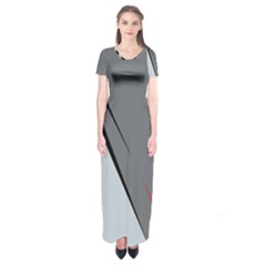 Elegant gray Short Sleeve Maxi Dress