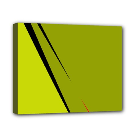 Yellow elegant design Canvas 10  x 8