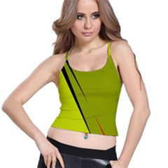 Yellow elegant design Spaghetti Strap Bra Top
