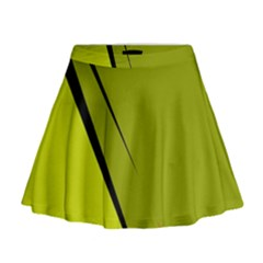 Yellow Elegant Design Mini Flare Skirt