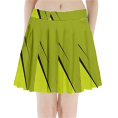 Yellow elegant design Pleated Mini Mesh Skirt(P209)