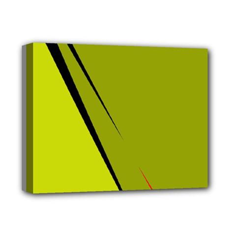 Yellow elegant design Deluxe Canvas 14  x 11