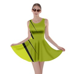 Yellow elegant design Skater Dress
