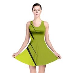 Yellow elegant design Reversible Skater Dress