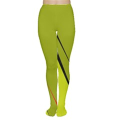 Yellow elegant design Women s Tights