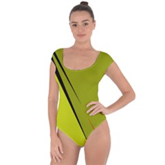 Yellow Elegant Design Short Sleeve Leotard