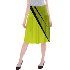 Yellow elegant design Midi Beach Skirt