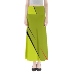 Yellow elegant design Maxi Skirts