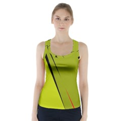 Yellow elegant design Racer Back Sports Top