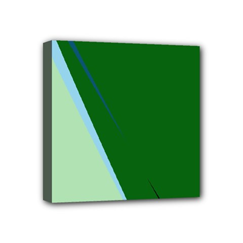 Green design Mini Canvas 4  x 4