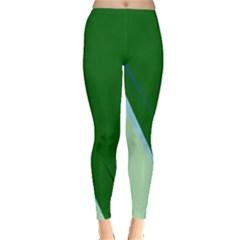 Green design Leggings