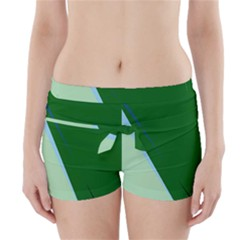 Green Design Boyleg Bikini Wrap Bottoms