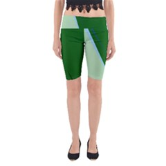 Green design Yoga Cropped Leggings