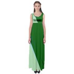 Green Design Empire Waist Maxi Dress