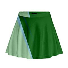 Green design Mini Flare Skirt