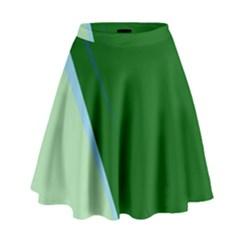 Green Design High Waist Skirt