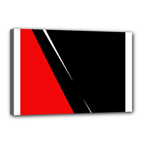 Black and red design Canvas 18  x 12