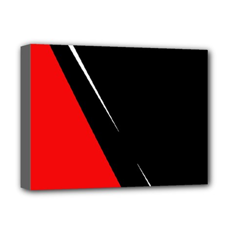 Black and red design Deluxe Canvas 16  x 12