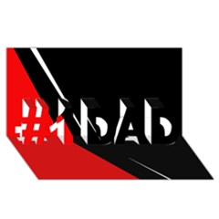 Black and red design #1 DAD 3D Greeting Card (8x4)