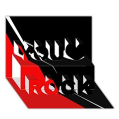 Black and red design You Rock 3D Greeting Card (7x5)