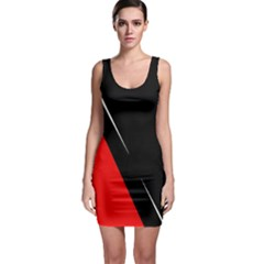 Black and red design Sleeveless Bodycon Dress