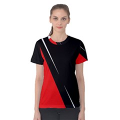 Black and red design Women s Cotton Tee
