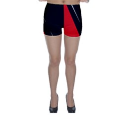 Black and red design Skinny Shorts