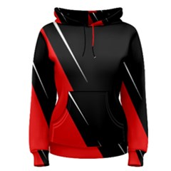 Black and red design Women s Pullover Hoodie